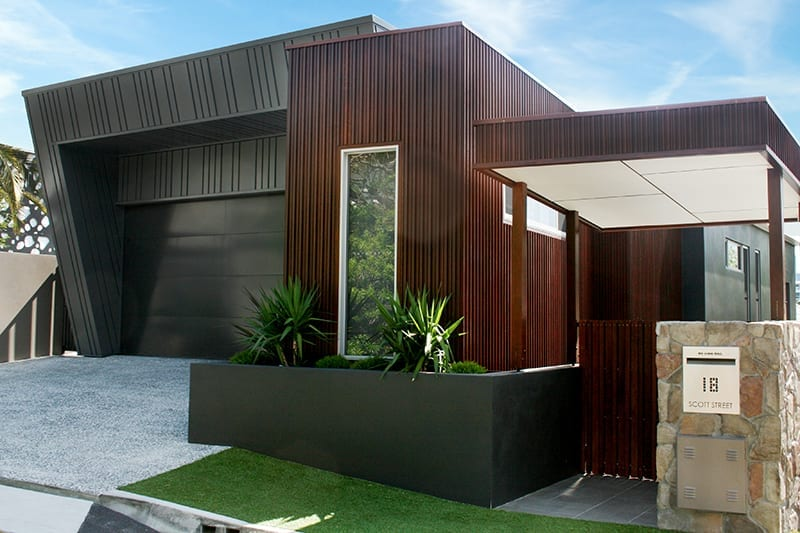 Modern house with new modern architectural cladding