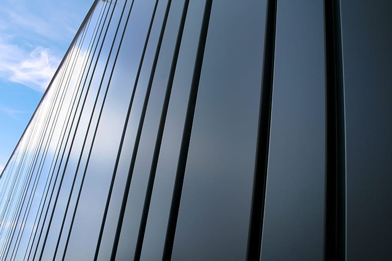 Close up of architectural cladding