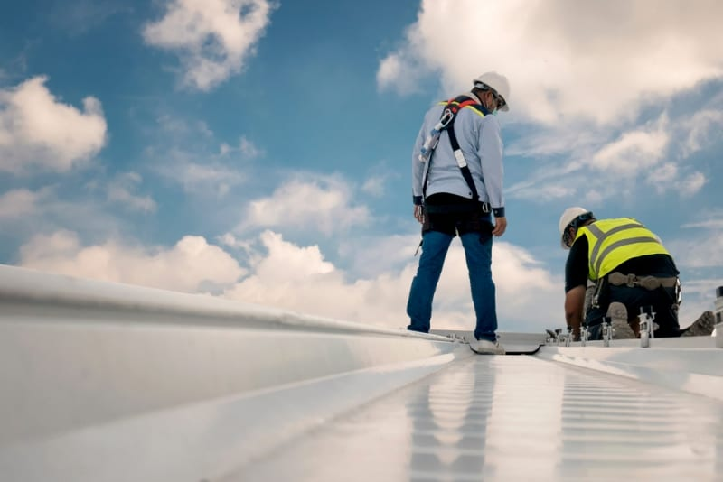 inspection metal roofing work