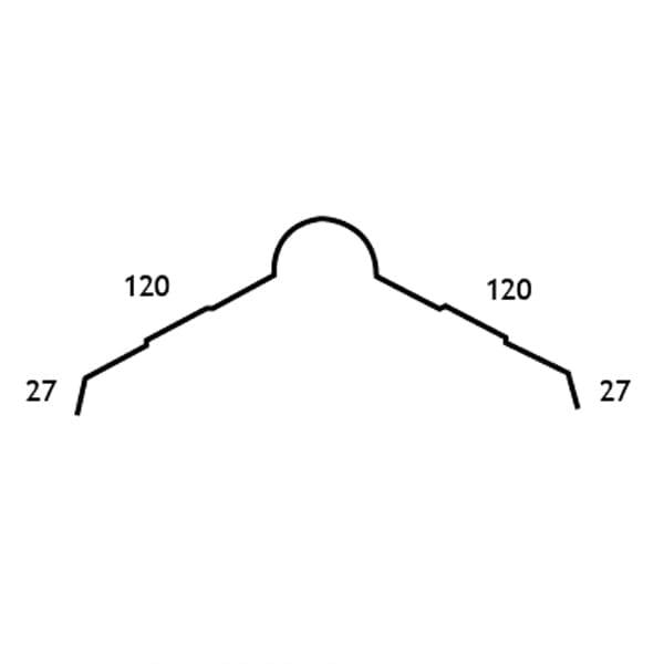 measurements of roll top ridge